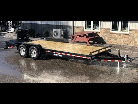 Sure Trac 7x20' Equipment Trailer 14000# GVW Universal Ramps ST81173ITUR-B-140