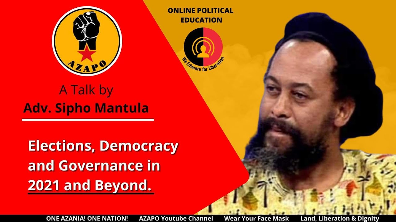 Download Sipho Mantula - Elections, Democracy and Governance in 2021 and Beyond 17 January 2021