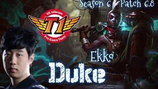 SKT T1 Duke EKKO Top vs Gragas - Patch 6.8 | League of Legends
