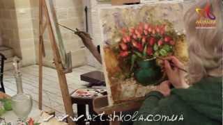 Мастер класс живописи Елены Ильичевой 16.04.2012
