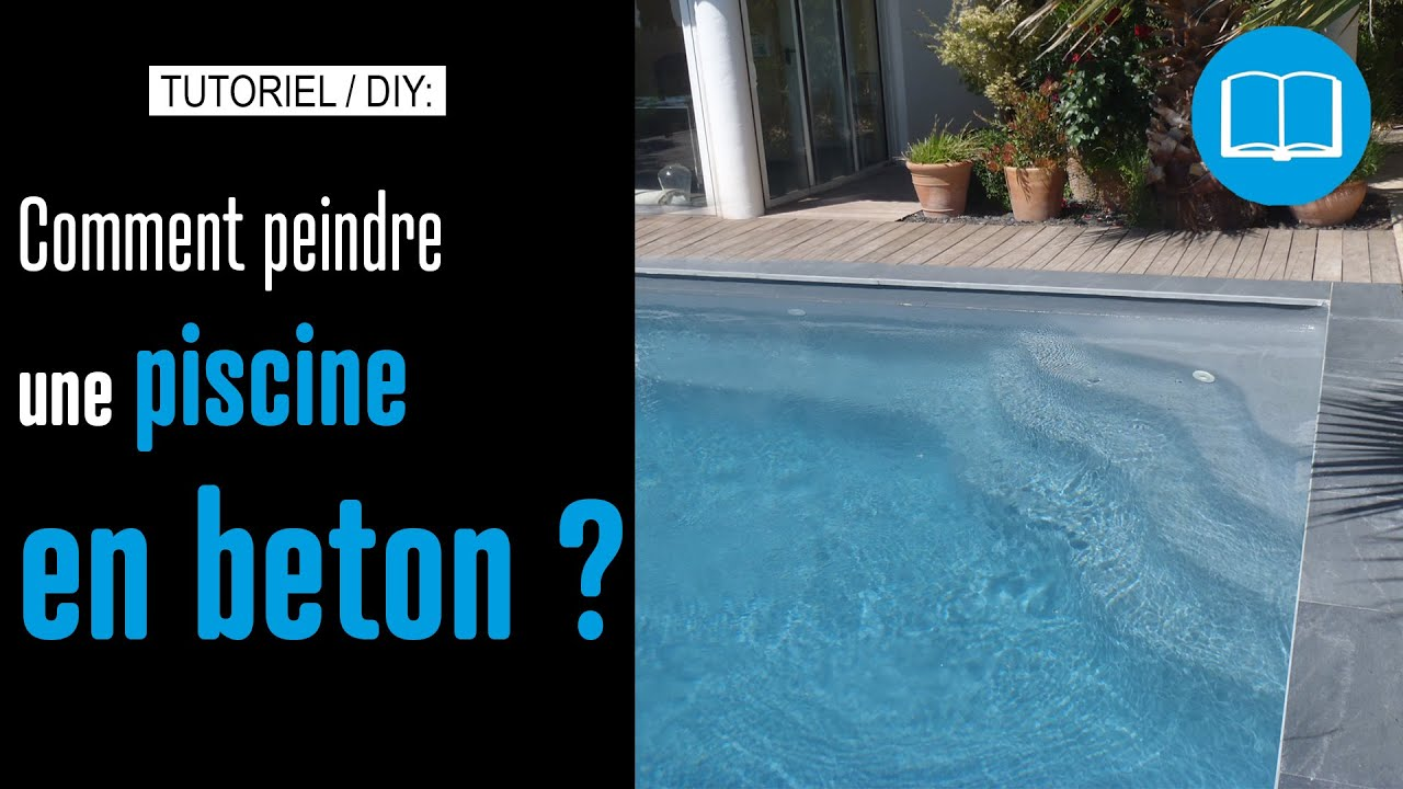 Peinture piscine protection et d coration support b ton et for Fabrication piscine beton