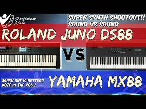 Roland Juno DS88 vs Yamaha MX88: Sound vs Sound Super Shootout!!