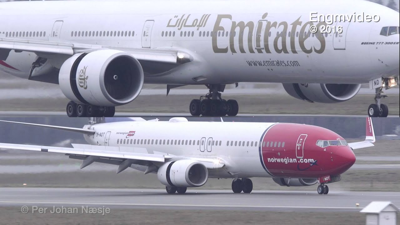 Video to show the size difference between B77W and B738