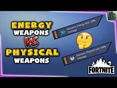 Fortnite - Energy Vs Physical Weapons