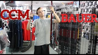 COMPLETE Stick Buying Guide For Elite Hockey Players (CCM vs Bauer)