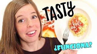 Probando Receta de Tasty | ¿Pasta con Sabor a Pizza? | Solo 3 Ingredientes!