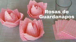Como Fazer Rosas Perfeitas com Guardanapos