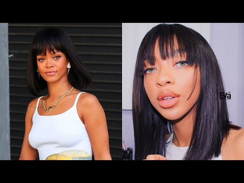 Rihanna Inspired Bob w/ Bangs Review | 15% Off Valentines Day Sale