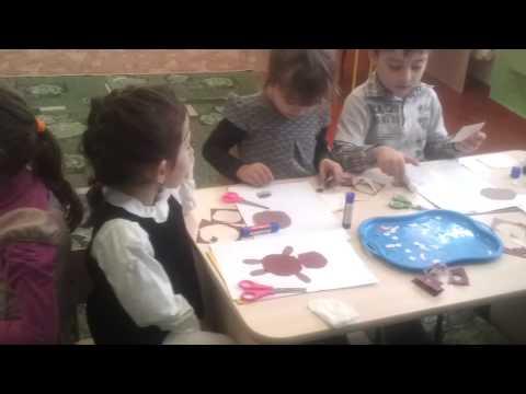 Детский сад № 116, старшая гр.  аппликация винни пух