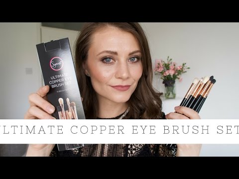 Ultimate Copper Eye Brush Set - Sigma - First impressions/ Review | SocialBeautify