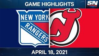 NHL Game Highlights | Rangers vs. Devils - Apr. 18, 2021