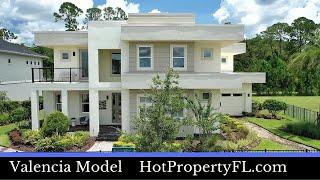 New Model Home Tour  Lake Nona  Orlando  3780 sq ft 4-6 Bedrooms 3-55 baths 3 Car Garage