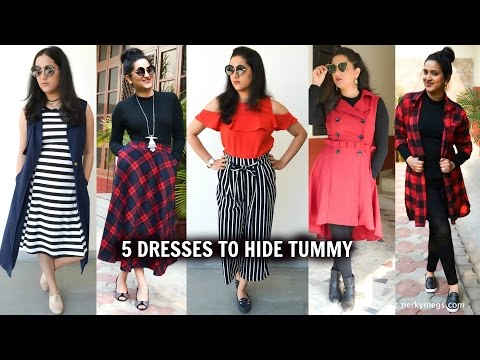 5-dresses-to-hide-tummy-|-how-to-hide-belly-fat-|-perkymegs