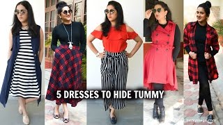 5 Dresses to hide tummy |  how to hide belly fat | Perkymegs