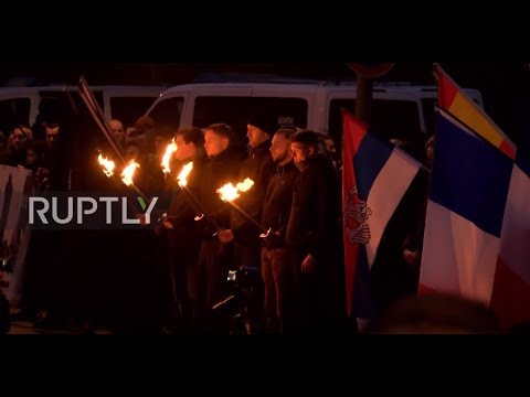 Germany: Torch-lit Young Nationalists protest met by counter-demo in Dresden