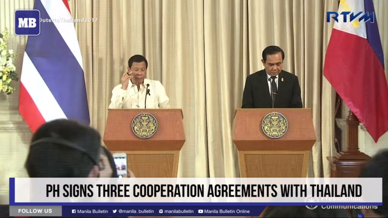 PH signs three cooperation agreements with Thailand