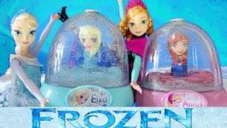 FROZEN ELSA GLITTER GLOBES How to Paint Elsa Anna Olaf 3 Disney Snow Domes Mp3