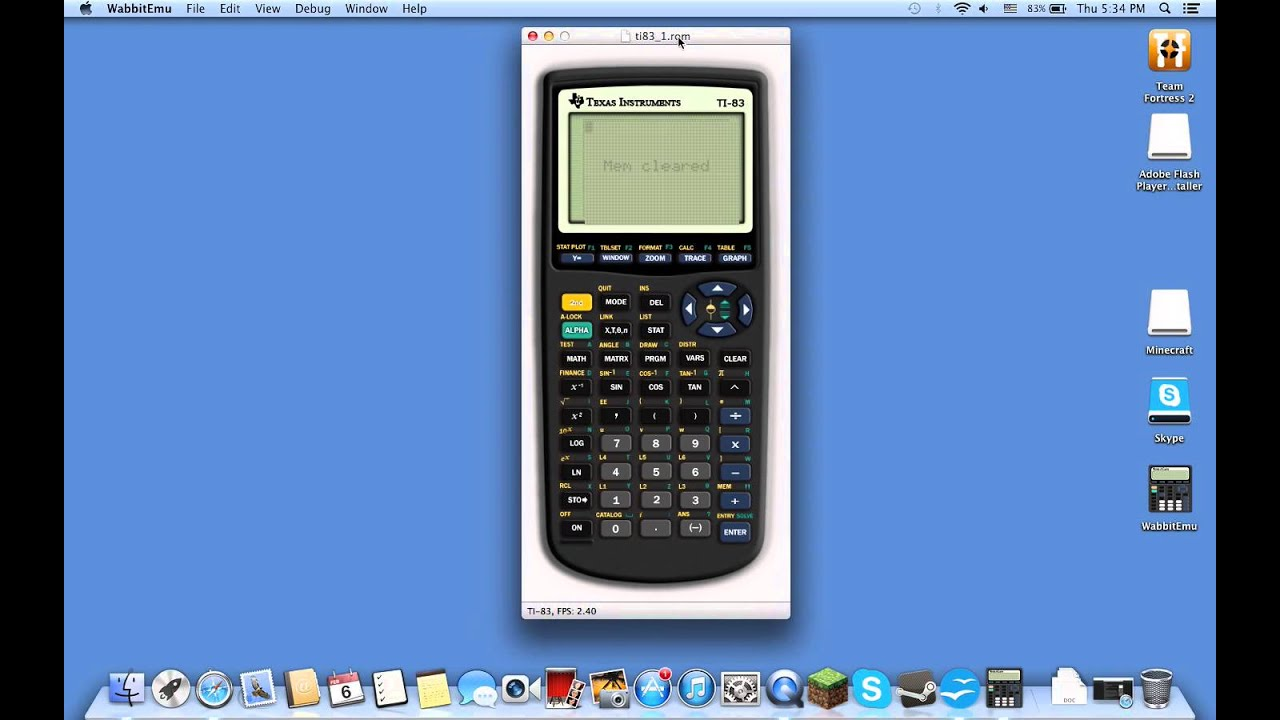 graphing calculator download ti-84 mac