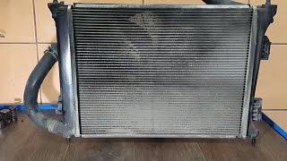 Чистка радиаторов Hyundai Solaris и Kia Rio