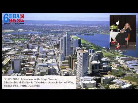 Maja Tomas interview on 6EBA FM, Perth, Australia - PART 2