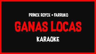 Karaoke: Prince Royce ft Farruko  - Ganas Locas🎤🎶