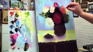 Алла Белопесоцкая видеоурок живопись маслом