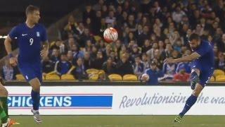 Αυστραλία - Ελλάδα 1 - 2 Γκολάρα Μανιάτη πίσω από τη σέντρα Δείτε τα γκολ