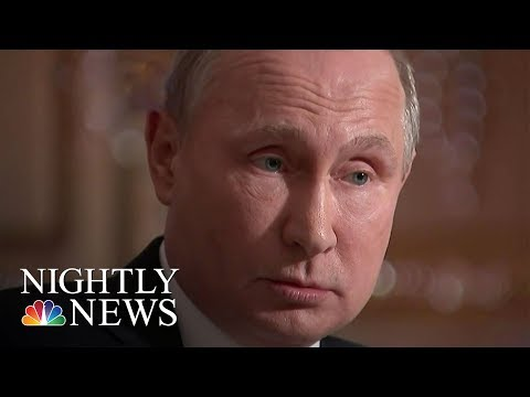 Exclusive: Vladimir Putin Denies Cold War   NBC Nightly News