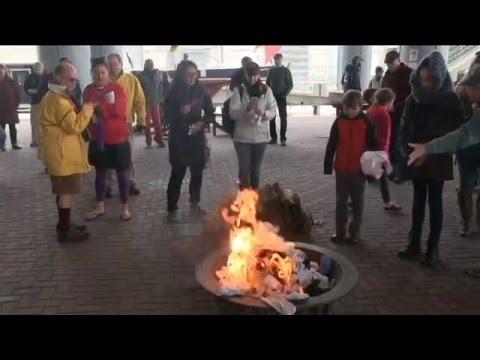 Norfolk Sock Burning Ceremony By Sail Nauticus