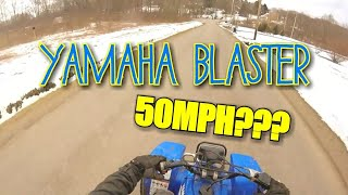 Yamaha Blaster Top Speed Run