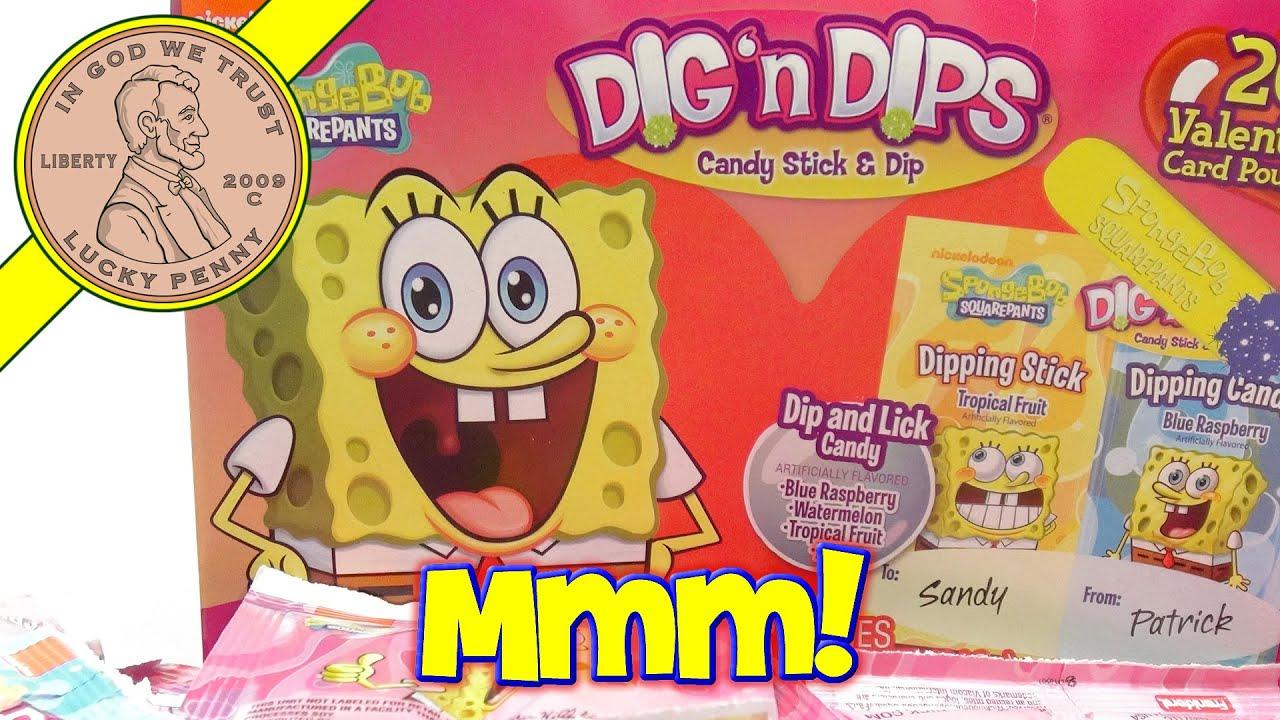 Spongebob Squarepants Patrick Valentines Day Dig n Dips YouTube – Spongebob Valentines Day Card