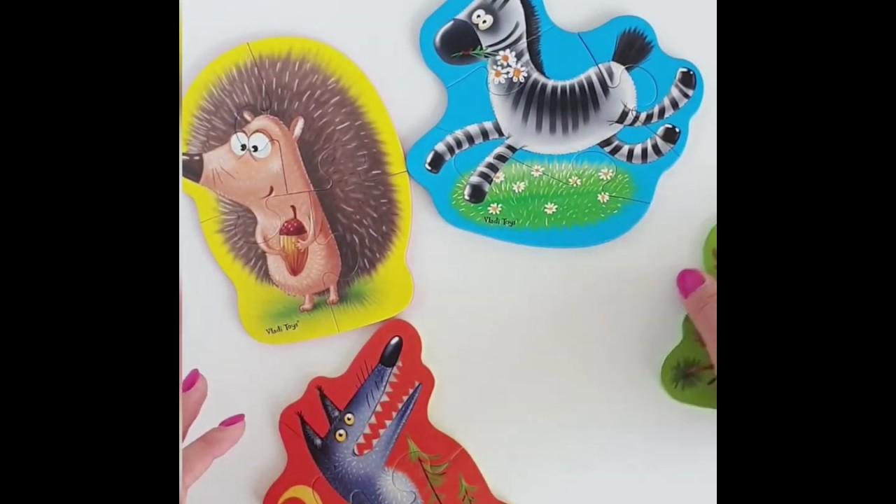Vladi Toys  VT1106-65 Мягкие пазлы Baby puzzle Животные