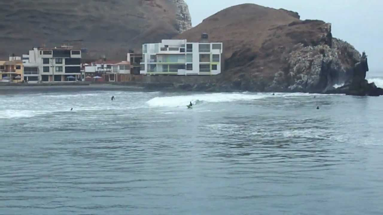 Surfing at Cerro Azul, Peru - YouTube