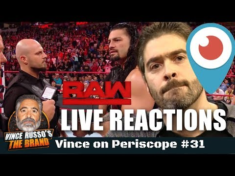 Russo On Periscope #31: RAW LIVE REACTIONS