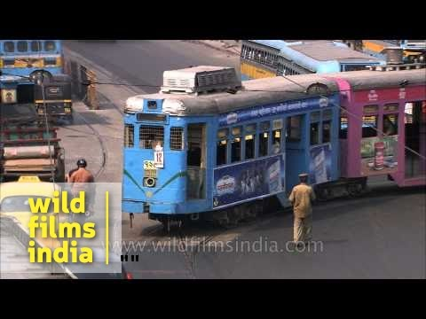 Calcutta Tram is the oldest operating electric tram in India thumbnail