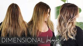 Dimensional Balayage - How to Add Lowlights and Highlights using my Foilayage Technique!
