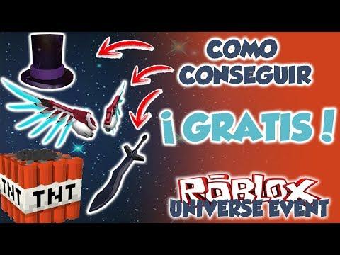 COMO CONSEGUIR SOMBRERO, ESPADA Y ALAS GRATIS | ROBLOX UNIVERSE EVENT- TNT RUSH