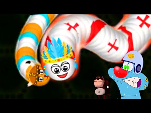 WORMATE.IO Giant WORM Trolling   OGGY and JACK Play snake game   WORMATE io  