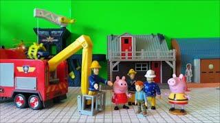 Peppa Pig Asleep Fireman Sam, Officer Steel and Elvis Save Her - Full Episode Feuerwehrmann Sam