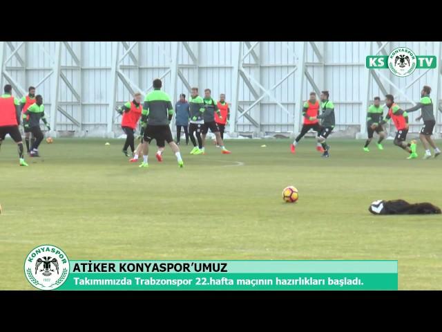Atiker Konyaspor'umuz ligin 22.haftasında oynayacağı Trabzonspor maçı hazırlıklarına başladı