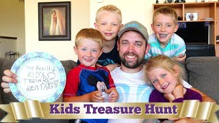 Kids Surprise Dad With Homemade Treasure Hunt! Belated Father's Day Present / The Beach House