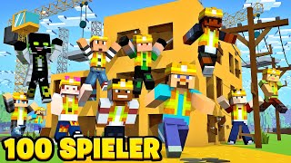 100 SPIELER BAUEN GLEICHZEITIG EIN HAUS - Minecraft Server 1.15