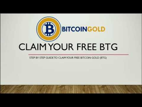 How Claim Your Free Bitcoin Gold (BTG)