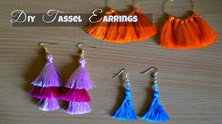 DIY Tassel Earrings | DIY Trendy Jewelry | DIY Fashion Jewelry