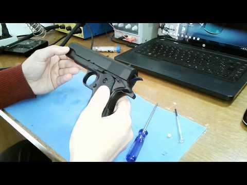 Defeito na pistola colt airsoft spring e reparo da pistola