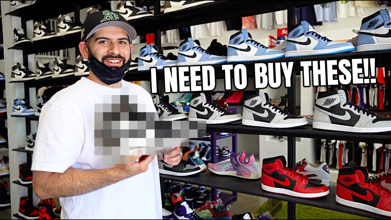 WTF WHY DID I SELL THESE SNEAKERS!! Re-BUYING SOLD OUT Shoes inside NEW LA STORE!!