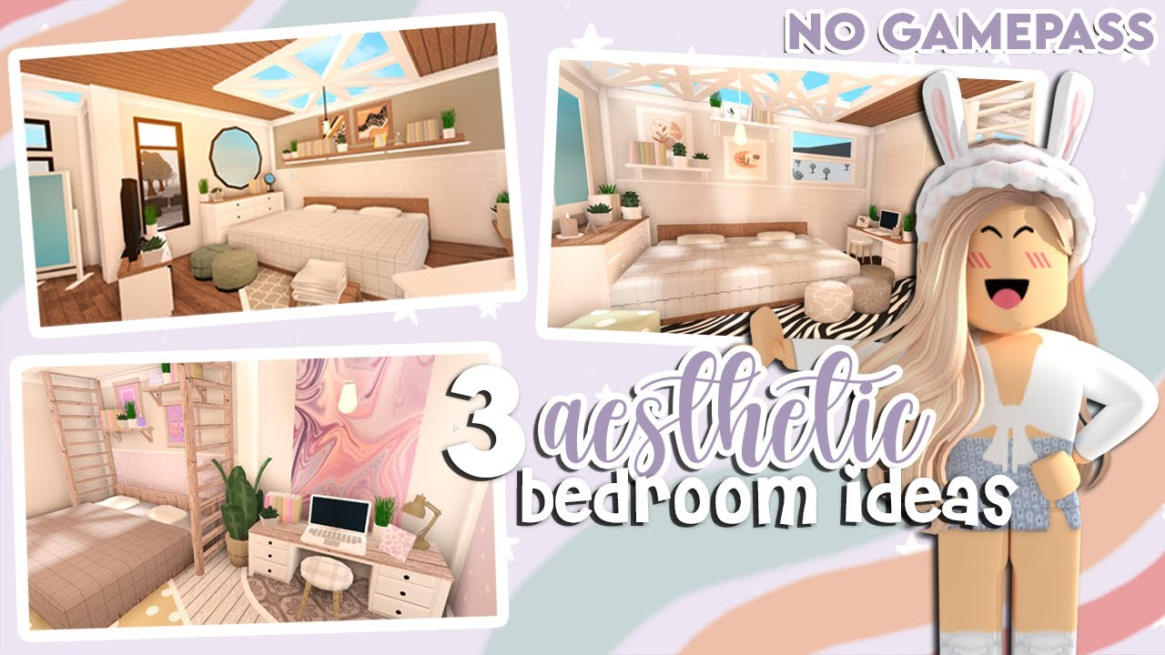 Bloxburg 3 Aesthetic Bedroom Ideas No Gamepass Roblox Youtube