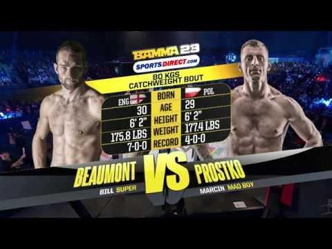 BAMMA 23 (Prelim) Bill Beaumont vs Marcin Prostko