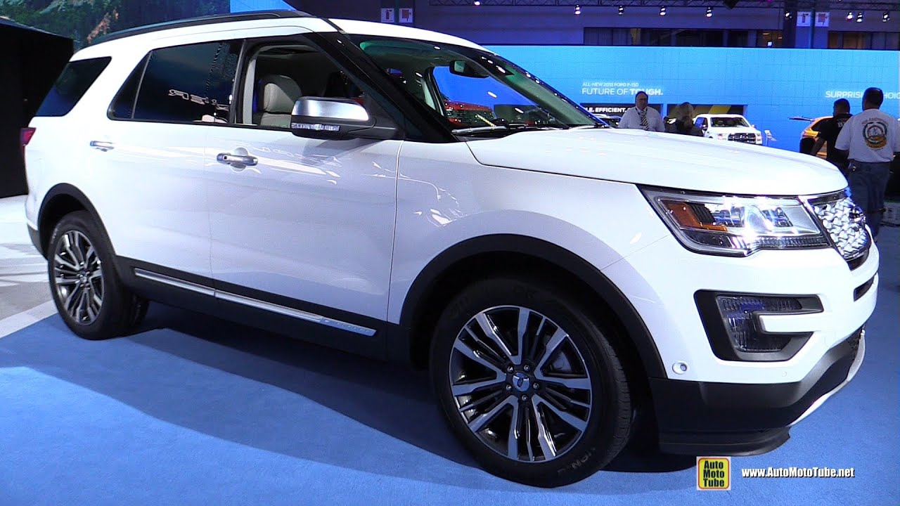 2016 ford explorer platinum exterior and interior walkaround debut at 2014 la auto show youtube