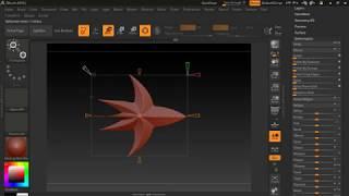 Изменение объекта целиком. Zbush deform tool, bend curve tool.